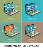 set of isometric vector... | Shutterstock .eps vector #393396820
