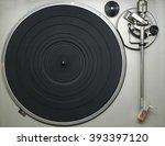 vinyl player top view | Shutterstock . vector #393397120