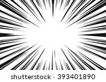 sun rays for comic books radial ... | Shutterstock .eps vector #393401890