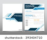Annual report brochure flyer design template vector, Leaflet cover presentation abstract technology background, layout in A4 size | Shutterstock vector #393404710
