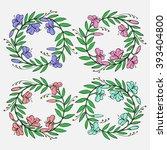 hand drawn vintage decorative... | Shutterstock .eps vector #393404800