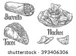 mexican traditional food set... | Shutterstock .eps vector #393406306