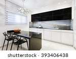 luxury kitchen design | Shutterstock . vector #393406438