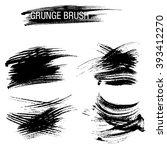 vector set of grunge brush... | Shutterstock .eps vector #393412270