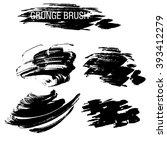 vector set of grunge brush... | Shutterstock .eps vector #393412279