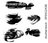 vector set of grunge brush...   Shutterstock .eps vector #393412438