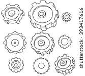vector set of gear | Shutterstock .eps vector #393417616