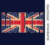 emblem with british flag and ...   Shutterstock .eps vector #393431950
