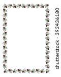 vector frame with cartoon flies. | Shutterstock .eps vector #393436180