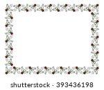vector frame with cartoon flies. | Shutterstock .eps vector #393436198
