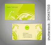 business card. | Shutterstock .eps vector #393437533