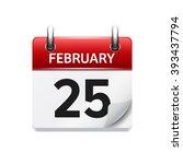 february 25. vector flat daily...