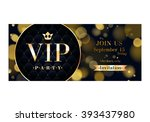 vip party premium invitation... | Shutterstock .eps vector #393437980