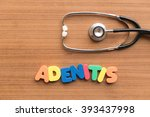 Small photo of adenitis colorful word on the wooden background