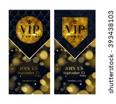 vip party premium invitation... | Shutterstock .eps vector #393438103