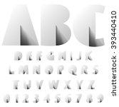 alphabet vector typography set... | Shutterstock .eps vector #393440410