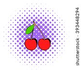 red cherries icon. red cherries ...