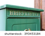 german letterbox. close up of a