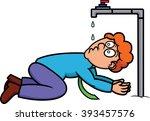 cartoon illustration of a... | Shutterstock .eps vector #393457576