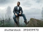 fashion outdoor photo of... | Shutterstock . vector #393459970