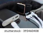 travel charger smart wrist... | Shutterstock . vector #393460408
