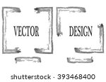 hand drawn grunge frame with... | Shutterstock .eps vector #393468400