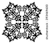 black and white antique ottoman ... | Shutterstock .eps vector #393469600