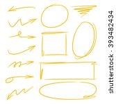 highlighter elements arrows... | Shutterstock .eps vector #393482434