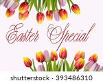 tulips in front of a withe... | Shutterstock . vector #393486310