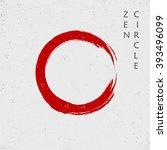 zen red circle  vector | Shutterstock .eps vector #393496099