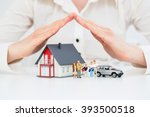 Small photo of Insurance Home House Life Car Protection Protect Concepts