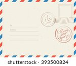 holiday postcard background  ... | Shutterstock .eps vector #393500824