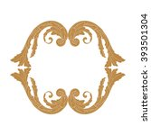 premium gold vintage baroque... | Shutterstock .eps vector #393501304