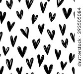 seamless pattern with hand... | Shutterstock .eps vector #393505084