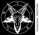 pentagram with baphomet. binary ...   Shutterstock .eps vector #393524494