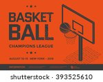 basketball champions league... | Shutterstock .eps vector #393525610