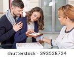 try them. female jeweler... | Shutterstock . vector #393528724