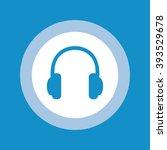 headphone icon set . vector... | Shutterstock .eps vector #393529678