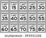 Road Speed Limit Sign Set  ....