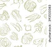 vegetable pattern | Shutterstock .eps vector #393533383