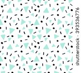 hand drawn abstract pattern in...   Shutterstock .eps vector #393536776