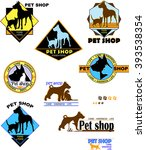 dog  cat  color logo  pet store ... | Shutterstock .eps vector #393538354