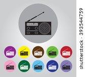 radio vector icon | Shutterstock .eps vector #393544759
