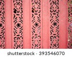 old wooden painted pink vintage ... | Shutterstock . vector #393546070