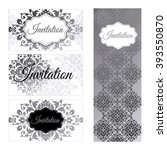 set of invitations templates ... | Shutterstock .eps vector #393550870