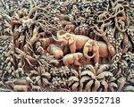 beautiful thailand antique art... | Shutterstock . vector #393552718