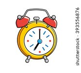 yellow alarm clock. | Shutterstock .eps vector #393556876