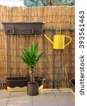 Yellow Metal Watering Can  Pot...