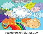 cloudy sky doodle | Shutterstock .eps vector #39356269