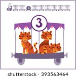 train with numbers and animals... | Shutterstock .eps vector #393563464